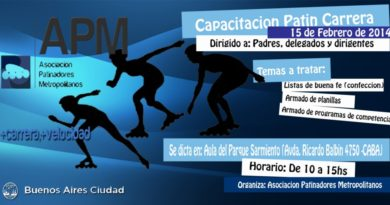 1ra Jornada de Capacitación para planilleros de Patín Carrera