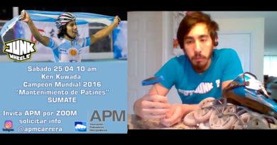 El Campeón del Mundo de Patín Ken Kuwada y la APM dictaron una jornada de mantenimiento