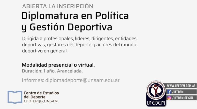 La Universidad de San Martín abre la inscripción para la Diplomatura en Política y Gestión Deportiva