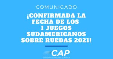 Fecha Confirmada para los I Juegos Sudamericanos Sobre Ruedas San Juan 2021
